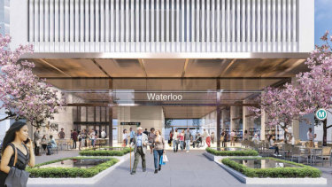 The government plans to build four tower blocks above the underground Waterloo metro station.