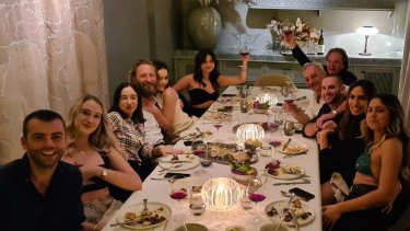 Justin Hemmes hosted an intimate dinner at mimi's private dining room.