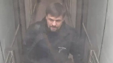 This still taken from CCTV and issued by the Metropolitan Police in London shows Ruslan Boshirov, now revealed to be Colonel Anatoliy Vladimirovich Chepiga, at Gatwick airport, England, on March 2, 2018.