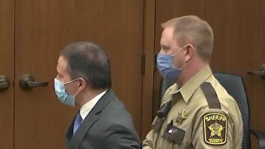 Former Minneapolis police officer Derek Chauvin is taken into custody.