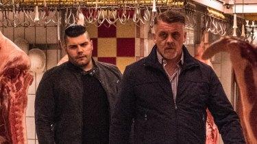 Meat and greet: Salvatore Esposito (left) in Italian crime series Gomorrah.