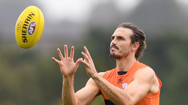 No certainty: GWS Giants co-captain Phil Davis is battling an ankle issue.