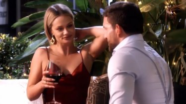 Jess up to old tricks again trying to woo Dan during a preview of Wednesday's dinner party.