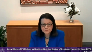 Ms Mikakos giving evidence at the hotel quarantine inquiry on Thursday.