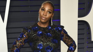 Serena Williams arrives at the Vanity Fair Oscar Party.