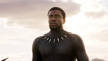 Chadwick Boseman as T'Challa, the hero of Black Panther.