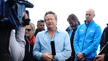 Delay: Andrew Forrest's plans for a new rugby competition are on hold.