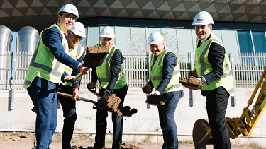 Breaking ground on the site in Adelaide's $3.6 billion BioMed City.