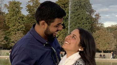 Monica had a visa to enter Australia and marry Paul Iskander but because of the travel bans she cannot enter.