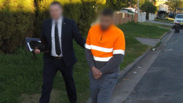 A man is arrested in Chester Hill, one of four charged following a string of robberies across Sydney over the past year.