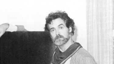 Stewart Merrett and one of his works, in 1979.