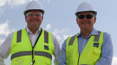 BAC chief executive Gert-Jan de Graaff with parallel runway project director Paul Coughlan.