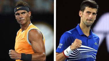 Nadal and Djokovic are in contention for the year-end No.1 ranking.