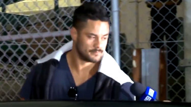 Jarryd Hayne was released on bail in the early hours of Tuesday.