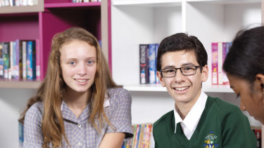 Aaliyah Zaph and Daniel Loza of Mordialloc College, which has lifted its NAPLAN results for year 9.