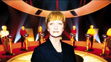 Cornelia Frances during her days hosting the previous Australian version of The Weakest Link.
