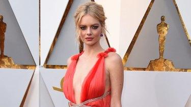 Samara Weaving at last year's Oscars.