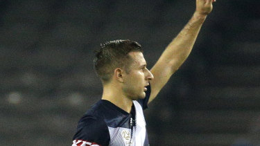 Switching shades: Barbarouses set to leave Melbourne Victory for Sydney FC.
