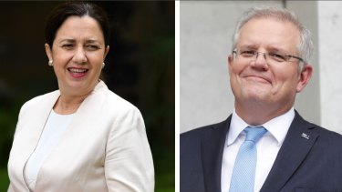 Premier Annastacia Palaszczuk had previously praised Scott Morrison's leadership through the coronavirus crisis.