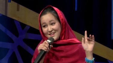Zahra Elham, the first woman to win Afghan Star, a television reality show  based upon 'American Idol'.