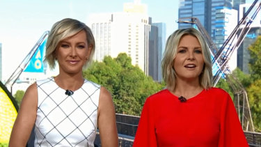 Deb Knight and Georgie Gardner are trailing behind rival show Sunrise.