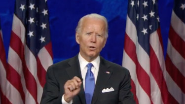 Joe Biden making his case for offfice.
