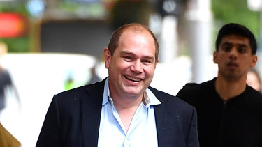 Former NSW Labor boss Jamie Clements outside the ICAC on Friday.