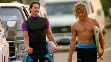 Keanu Reeves and Patrick Swayze in 1991 movie Point Break.