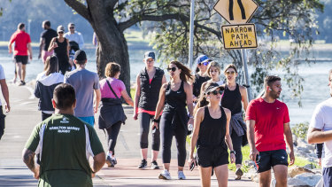 Planning Minister Rob Stokes says the volume of people taking to open-air exercise has highlighted the lack of appropriate space.