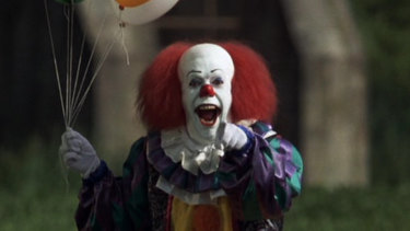 Pennywise the clown in the 1990 miniseries It, based on the novel by Stephen King.