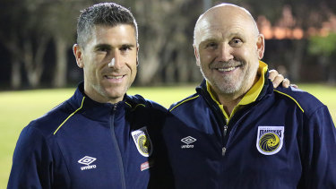 Manchester United assistant Mike Phelan (right) was formerly a sporting director of Central Coast.