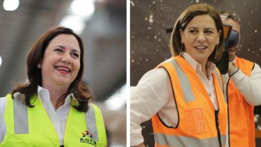 Premier Annastacia Palaszczuk and Opposition Leader Deb Frecklington traded health announcements on Monday.