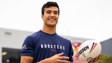 Roosters young gun Joseph Suaalii.