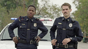 Nican Robinson and Jim Cummings in Thunder Road.