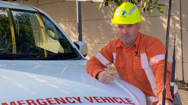 Ausgrid district operator Gavin Johns has been abused for doing his job.