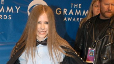 Avril Lavigne, the woman behind 'Sk8er Boi'.