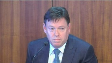Crown Resorts CEO Steve McCann giving evidence to Victoria's royal commission into the casino giant on Tuesday.