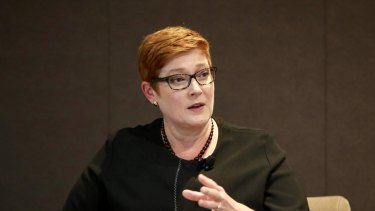 Marise Payne at a recent event held by the Australian Strategic Policy Institute.