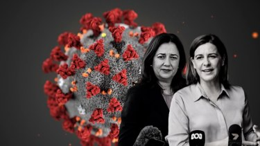 Premier Annastaica Palaszczuk and Opposition Leader Deb Frecklington.