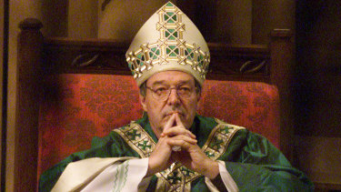 George Pell at St Mary's Cathedral in Sydney.