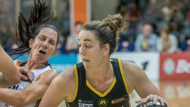 Boomers captain Jenna O'Hea wants to help people at risk of suicide. Picture: Mick Connolly