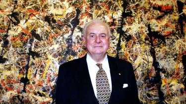 Gough Whitlam with Blue Poles.