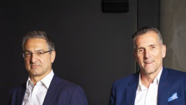 Splitit Chairman Spiro Pappas (left) and chief executive Gil Don.