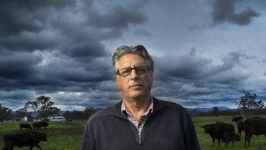 David Blackmore on his cattle property near Alexandra.