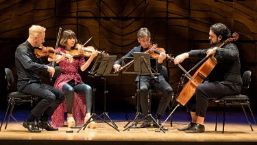The Australian String Quartet, with Blair Harris filling in on cello.