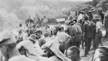 Australian troops at Gallipoli.
