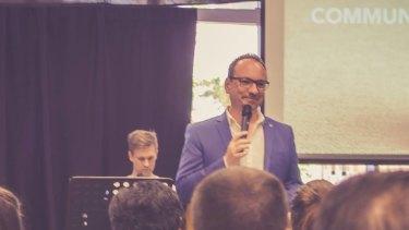Collective Hope's lead pastor Chris Friend.