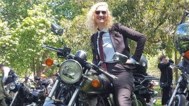 Arwen Whiting on the Distinguished Gentleman's Ride.