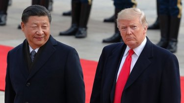 Chinese President Xi Jinping with US President Donald Trump.