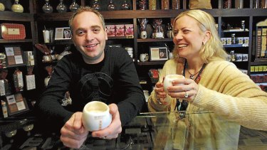 Tom and Lilly Haikin introduced Max Brenner cafes to Australia.